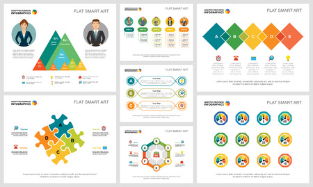Kleurrijke financiën of bankwezenconcept infographic geplaatste grafieken. Zakelijke ontwerpelementen voor presentatiedia's. Voor bedrijfsrapporten, advertenties, folderopmaak en posterontwerp.