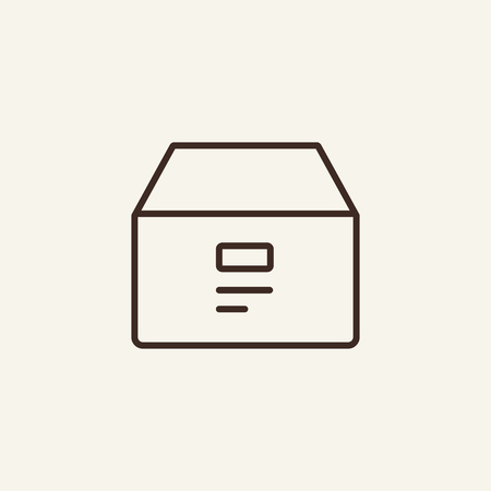 Archive box line icon. Documentation box on white background. Delivery  concept. Vector illustration can be used for topics like office, document flow, archive, delivery Ilustração
