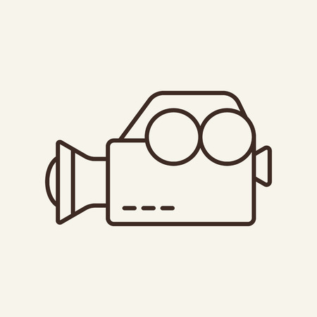 Video camera line icon. Camcorder, videographer, equipment. Mass media concept. Can be used for topics like shooting, news making, interview, filming Vektorové ilustrace
