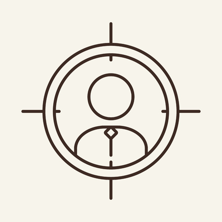 Goal line icon. Employment, job search, specialist. Career concept. Can be used for topics like business, staff, promotion
