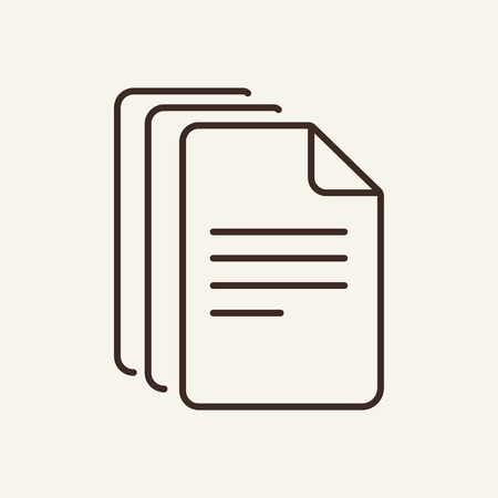 Pack of documents line icon. Few documents. Documents concept. Vector illustration can be used for topics like office, documentation, work plan
