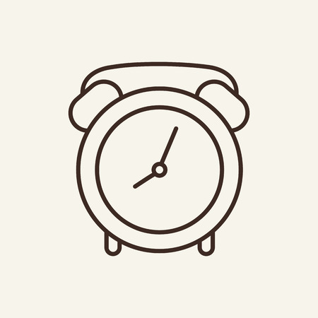 Alarm clock line icon. Mechanical clock. Time concept. Vector illustration can be used for topics like time management, time, every day life