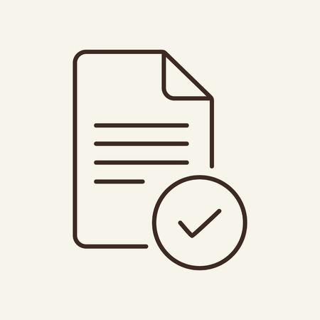 Symbol für genehmigte Dokumentzeile. Dokumentieren und überprüfen Sie das Symbol. Dokumente-Konzept. Vektorillustration kann für Themen wie Büro, Dokumentation, Geschäftsbericht verwendet werden