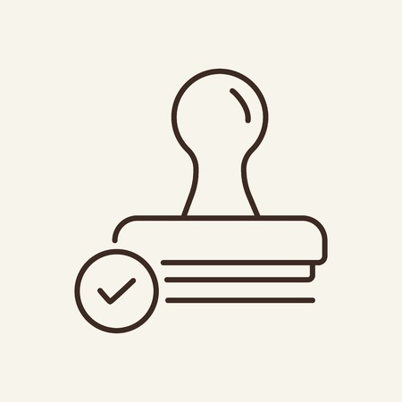 Stamp line icon. Stamp seal. Documents concept. Vector illustration can be used for topics like office, documentation, work space