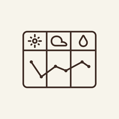 Weather graph line icon. Changing, presentation, analysis. Nature concept. Can be used for topics like forecast, mobile weathers app, meteorology