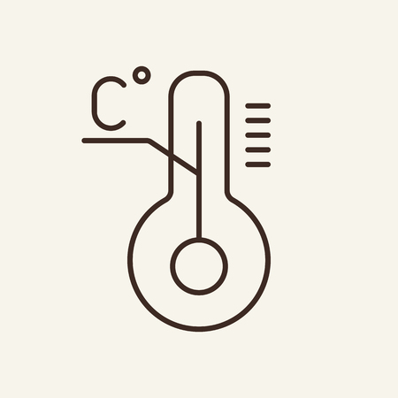 Temperature Celsius line icon. Degree, tool, instrument. Weather concept. Can be used for topics like measurement tool, accuracy, science Stock Illustratie