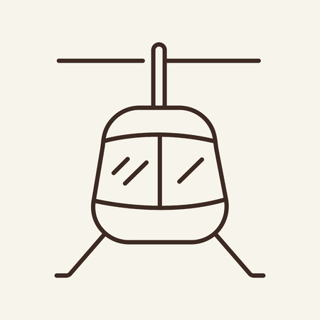 Helicopter line icon. Copter, windmill, rotor plane. Transport concept. Vector illustration can be used for topics like flight, aviation, assistance