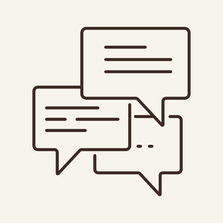 Dialogue line icon. Chat, comment, messenger. Business concept. Vector illustration can be used for topics like communication, social networking, applications
