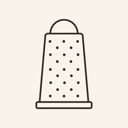 Grater line icon. Knife, wood, tool. Cooking concept. Vector illustration can be used for topics like kitchen, utensil, household