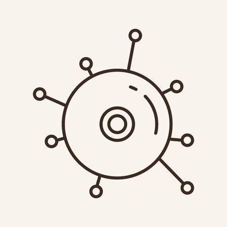 CD connection line icon. Compact disc, dvd, network lines. Software concept. Vector illustration can be used for topics like licensed software, game, distribution
