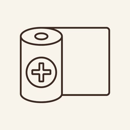 Bandage line icon. Elastic roller, compression, dressing. Medicine concept. Vector illustration can be used for topics like trauma, fracture, first aid