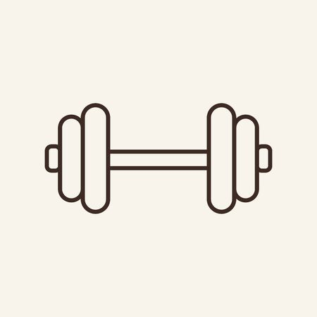 Dumbbell line icon. Arm, dumbbell, strength. Sport concept. Vector illustration can be used for topics like sport, fitness, healthy lifestyle