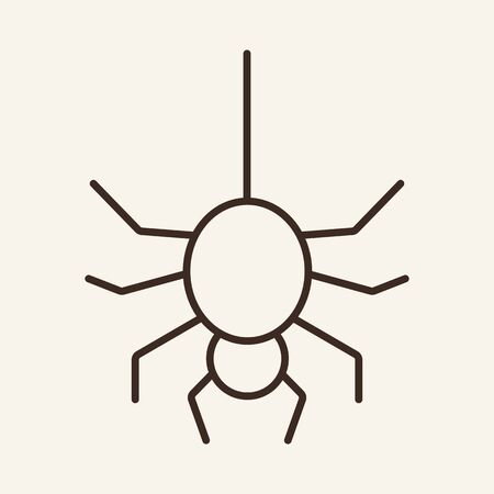 Spider vector line icon. Insect, Halloween, attribute. Holiday concept. Vector illustration can be used for topics like holiday, Halloween, nature