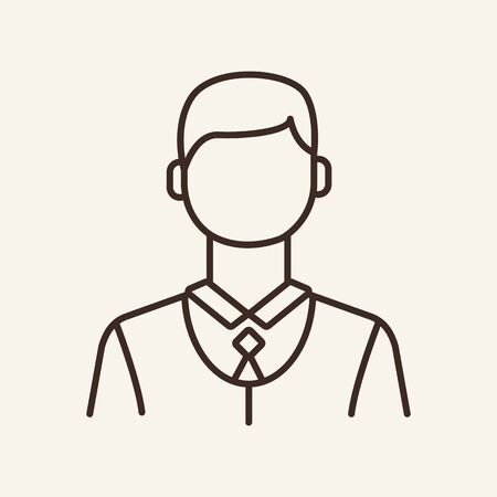 Groom line icon. Gentleman, waiter, businessman. Man concept. Can be used for topics like wedding, spouse, staff Иллюстрация
