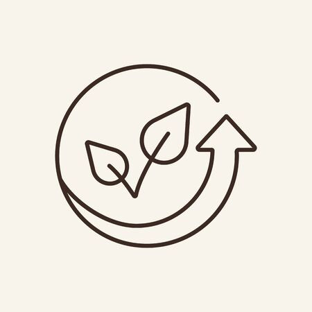 Eco cycle line icon. Nature, ecology, green. Eco technology concept. Vector illustration can be used for topics like environment security, ecology, business