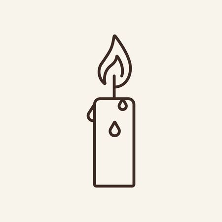 Candle line icon. Winter, coziness, home. Winter concept. Vector illustration can be used for topics like winter activities, family vacation, holidays