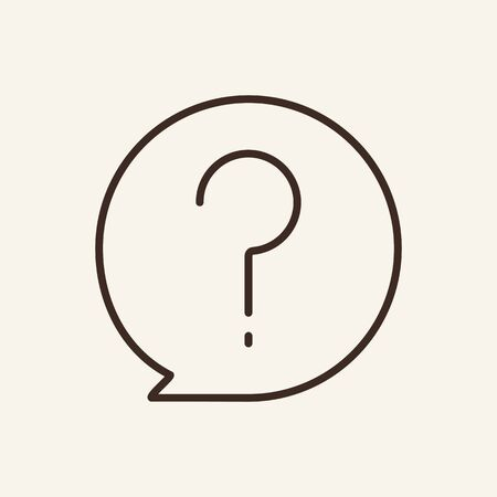 Question line icon. Round, speech bubble, communication. Doubt concept. Can be used for topics like uncertainty, problem, faq
