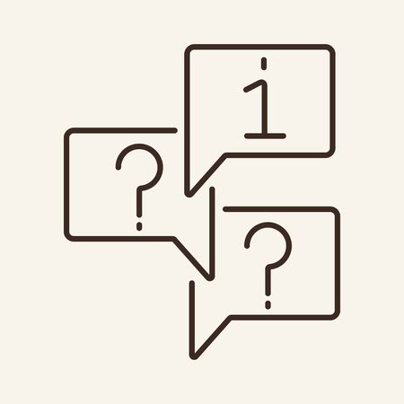 Technical support line icon. Information, question, chat. Faq concept. Can be used for topics like help, solution, technical support