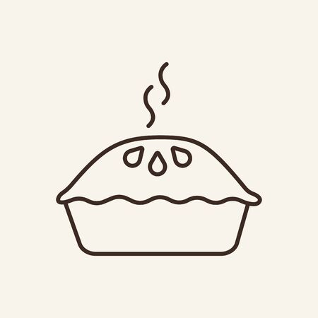 Apple pie line icon. Dessert, pastry, culinary. Thanksgiving concept. Can be used for topics like cuisine, menu, Christmas Stock Illustratie