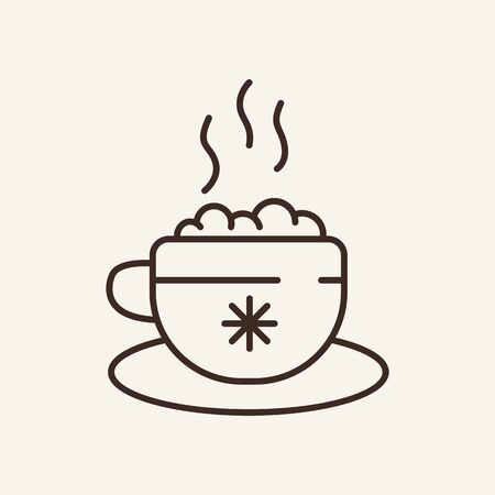 Tea line icon. Beverage, coziness, home. Winter concept. Vector illustration can be used for topics like winter activities, family vacation, holidays