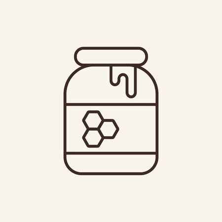 Jar of honey line icon. Dessert, syrup, nutrition. Apiculture concept. Can be used for topics like food, healthy eating, agriculture