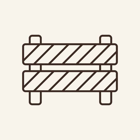 Road works line icon. Barrier, stop, caution. Construction concept. Can be used for topics like traffic, safety, warning