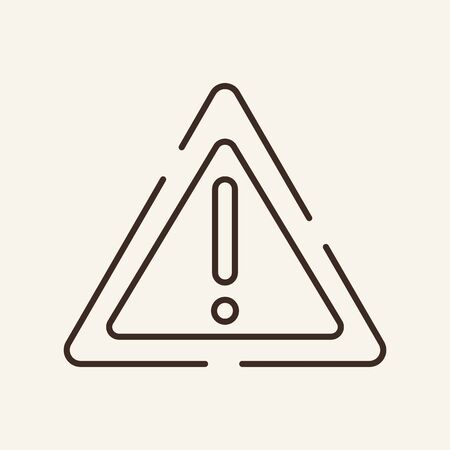 Warning sign line icon. Exclamation mark, attention, notification. Alert caution. concept. Can be used for topics like regulation, navigation, programming