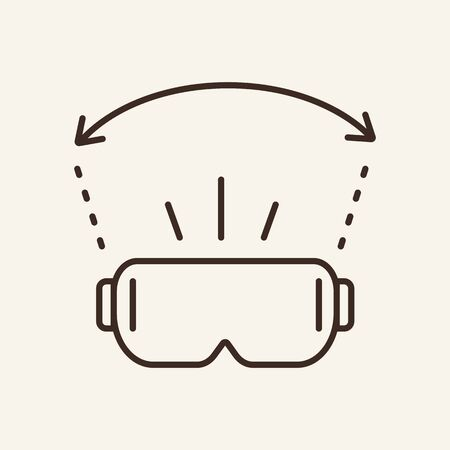 VR glasses line icon. Device, headset, technology. Videogame concept. Can be used for topics like entertainment, simulation, leisure