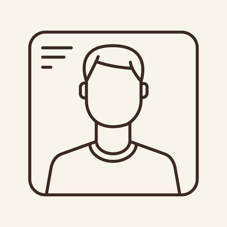 VR avatar line icon. User, employee, person. Identification concept. Can be used for topics like personality, staff, social media Фото со стока - 129862265