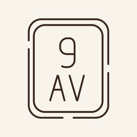 Street sign line icon. Number, avenue, address. Infrastructure concept. Can be used for topics like city, destination,