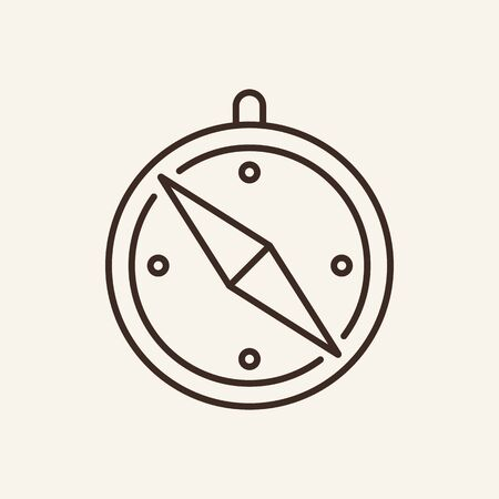 Compass line icon. Direction, equipment, guide. Travelling concept. Can be used for topics like navigation, orientation, discovery
