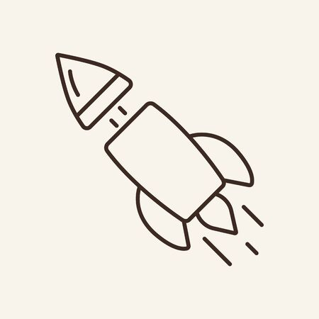 Multistage rocket line icon. Space, blastoff, vehicle. Space technology concept. Vector illustration can be used for topics like cosmonautics, modern technologies, science