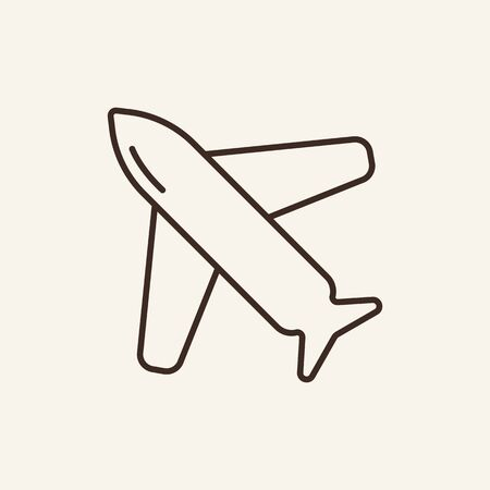 Airplane line icon. Plane, blastoff, flying. Space technology concept. Vector illustration can be used for topics like cosmonautics, modern technologies, science