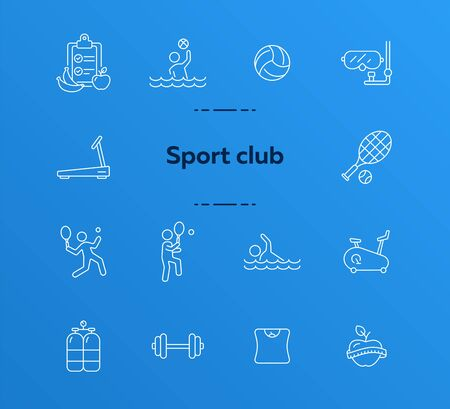 Sport club. Sportsman, tennis, game. Physical activity concept. Can be used for topics like weightloss, leisure, entertainment