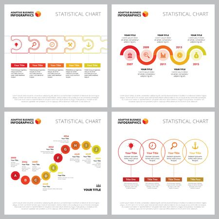 Creative infographic set for planning or analysis concept. Can be used for business project, annual report, web design, workflow layout. Flowchart, process, step, timeline