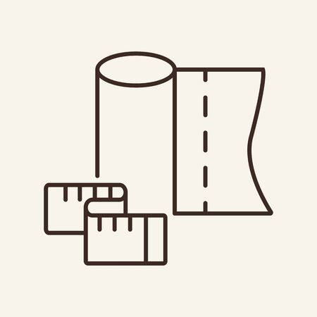 Fabric and meter line icon. Fabric, meter, tailoring. Fashion industry concept. Vector illustration can be used for topics like business, fashion, marketing 矢量图像