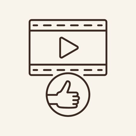 Great movie line icon. Television, multimedia, leisure. Cinema business concept. Vector illustration can be used for topics like cinematography, entertainment, leisure Illusztráció
