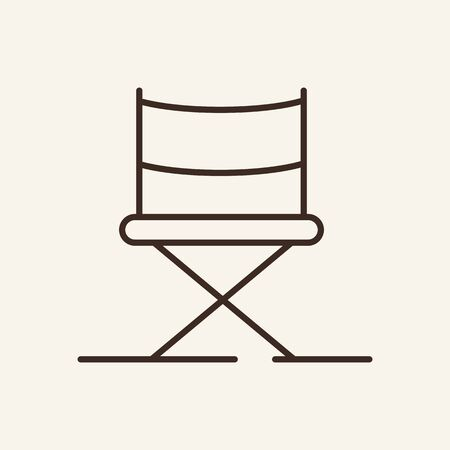 Directors chair line icon. Television, multimedia, leisure. Cinema business concept. Vector illustration can be used for topics like cinematography, entertainment, leisure