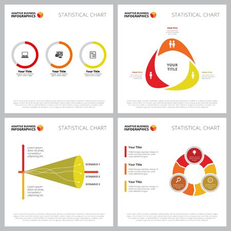 Creative diagram set for statistics, analysis, demography concept. Can be used for business project, marketing report, presentation slide template. Comparison, circle, part chart, donut, line