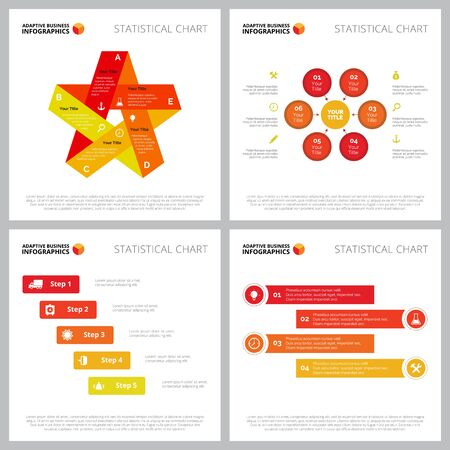 Creative diagram set for analysis, strategy, marketing concept. Can be used for business project, annual report, workflow layout. Option, stage, circle, process chart