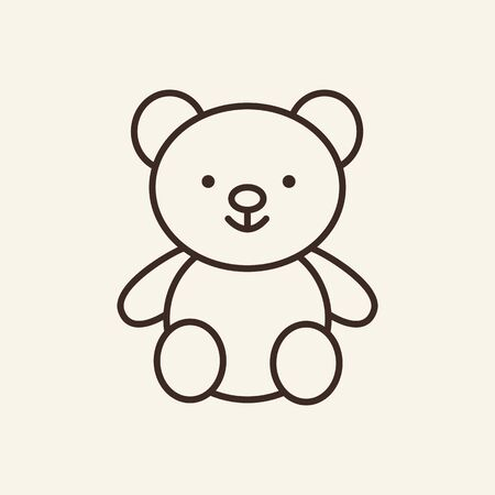 Teddy bear icon template. Preschool education concept. Vector design. Toy, game. Flatillustration can be used for web design, printing, advertising, decoration 일러스트