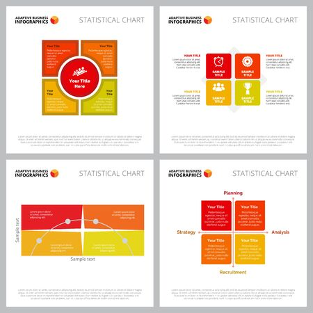 Creative infographic composition collection can be used for web design, presentation slide, workflow. Business concept with matrix charts