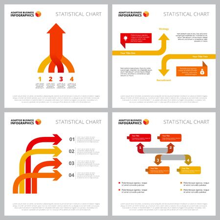Collection of modern infographic outline can be used for web design, presentation slide, financial report. Business and marketing concept with process arrow charts