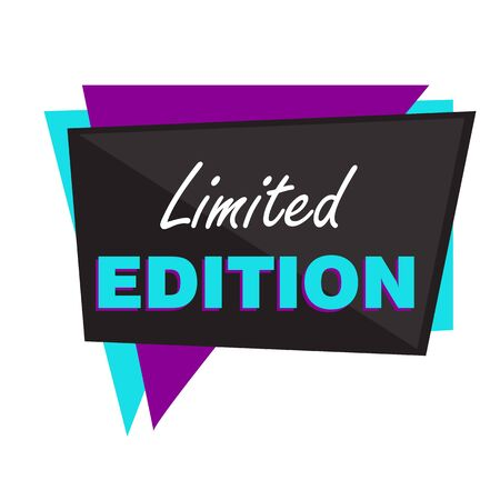 Limited edition colorful poster. White background. Lettering can be used for advertising label, stickers, banners, leaflets, badges, tags, posters. Sale concept