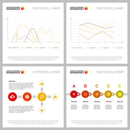 Collection of colorful infographic outline can be used for web design, presentation slide, advertising. Business concept with line, process and flow charts