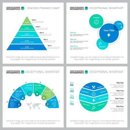 Creative business cycle infographic designs. Can be used for workflow layout, annual report, presentation slide, web design. Business and accounting concept with process and venn charts