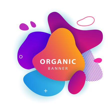 Stylish abstract colorful geometric cover. Dynamical forms, flowing liquid shapes, wavy line. Gradient color. Template for logo, flyer or presentation. Vector illustration