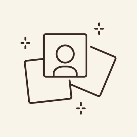Photo gallery thin line icon. Photography concept. Vector illustration symbol elements for web design and apps. Stock Illustratie