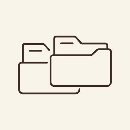 Folders transfer thin line icon. Scope of folders concept. Vector illustration symbol elements for web design and apps. Ilustração
