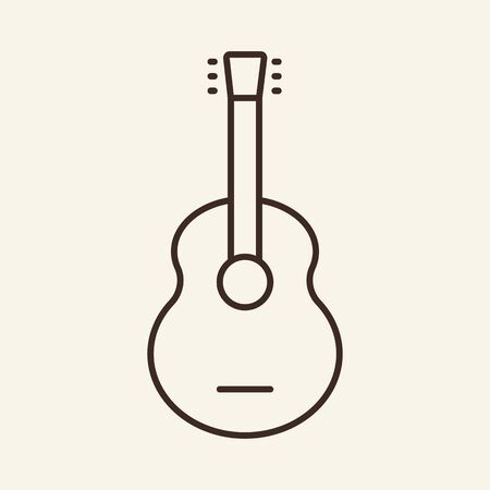 Guitar thin line icon. Concept of musical instrument. Vector illustration symbol elements for web design and apps.